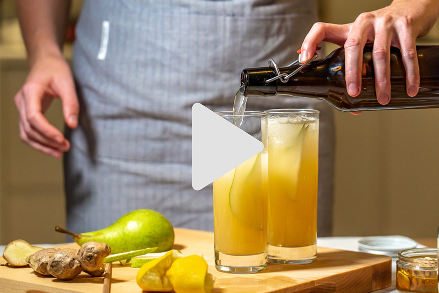 Ginger and Pear Mocktail