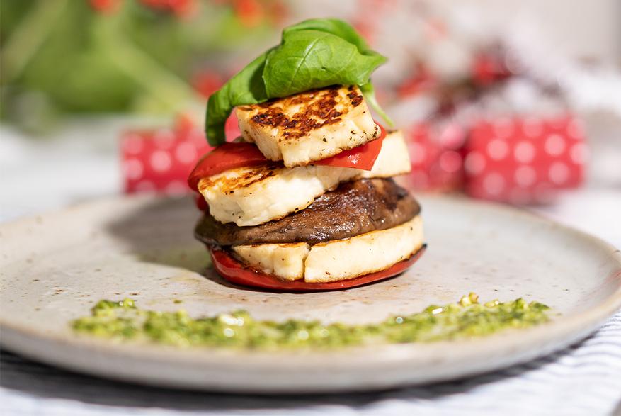 Vegetarian Halloumi Stack