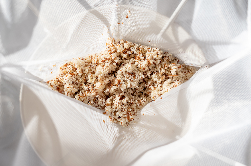 Nut Pulp from Plant Based Milk Making