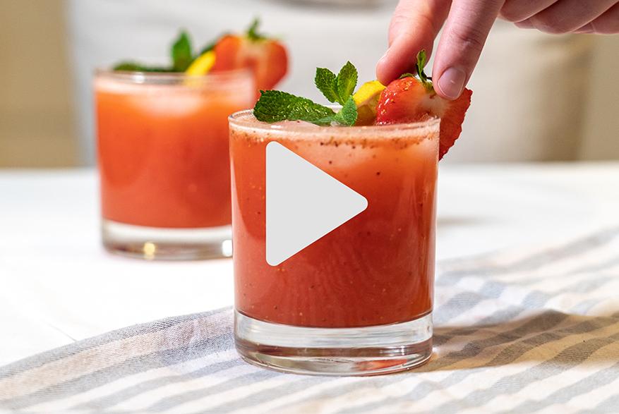 Strawberry Kefir Cocktail